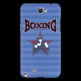 "Чехол для Samsung Galaxy Note 2 ""Боксер"" - звезда, надпись, полоска, бокс, боксер"