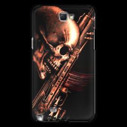 "Чехол для Samsung Galaxy Note 2 ""ДО КОНЦА!!!"" - skull, череп, weapon, автомат, ак"