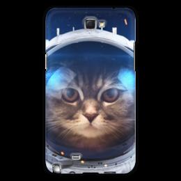 """Чехол для Samsung Galaxy Note 2 """"Котосмонавт"""" - кот, космос, животное, костюм"""