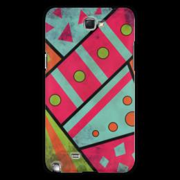 """Чехол для Samsung Galaxy Note 2 """"Яркая геометрия"""" - полосы, круги, геометрия, треугольники"""
