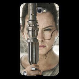 """Чехол для Samsung Galaxy Note 2 """"Звездные войны - Рей"""" - кино, фантастика, star wars, звездные войны, дарт вейдер"""