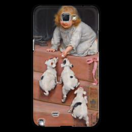 "Чехол для Samsung Galaxy Note 2 ""Картина Артура Элсли (1860-1952)"" - новый год, картина, собака, день матери, артур элсли"