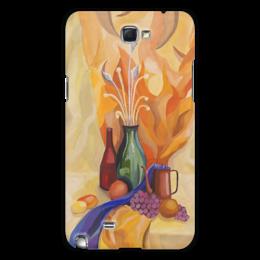 """Чехол для Samsung Galaxy Note 2 """"Живописный """" - арт, популярные, женская, рисунок, в подарок, картина, искусство, креативно, живопись, бутылка"""