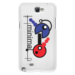 "Чехол для Samsung Galaxy Note 2 ""Минимал"" - арт, music, techno, minimal, deep"