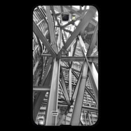 "Чехол для Samsung Galaxy Note 2 ""Металличесие балки"" - архитектура, металл, сооружение, балки"