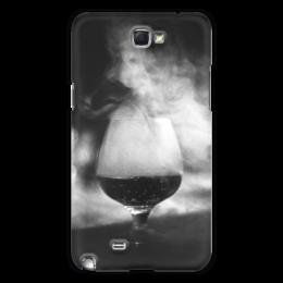 "Чехол для Samsung Galaxy Note 2 ""Бокал дыма"" - фотография, дым, кальян"