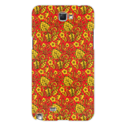 "Чехол для Samsung Galaxy Note 2 ""Хохлома"" - хохлома, матрешка, орнамент, россия, russia"