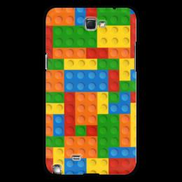 """Чехол для Samsung Galaxy Note 2 """"Конструктор Лего"""" - рисунок, детский, игрушка, конструктор, лего"""