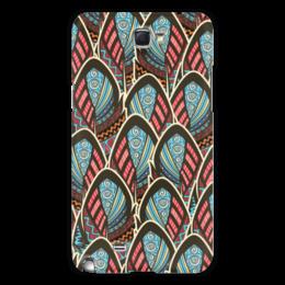 "Чехол для Samsung Galaxy Note 2 ""Перья Бохо"" - перо, перья, бохо, майя"