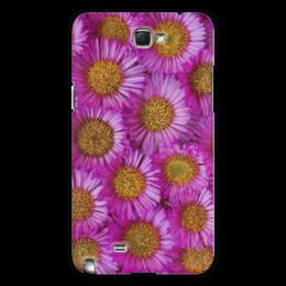 "Чехол для Samsung Galaxy Note 2 ""Астры"" - цветы, желтый, розовый, лепесток, астры"