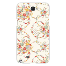 """Чехол для Samsung Galaxy Note 2 """"Цветы"""" - цветы, цветок, роза, листья, букет"""