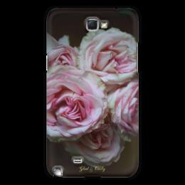 """Чехол для Samsung Galaxy Note 2 """"Glad & Curly """" - цветы, дизайн, в подарок, оригинально, девушке, розовый, фотография, розы, креативно, авторские чехлы"""