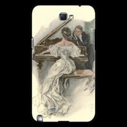 "Чехол для Samsung Galaxy Note 2 ""День Святого Валентина"" - настроение, картина, винтаж, 14фев, harrison fisher"