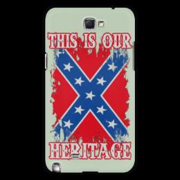 "Чехол для Samsung Galaxy Note 2 ""Флаг Конфедерации США"" - война, америка, флаг, сша, флаг конфедерации"