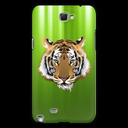 "Чехол для Samsung Galaxy Note 2 ""Взгляд тигра"" - рисунок, взгляд, тигр, джунгли"