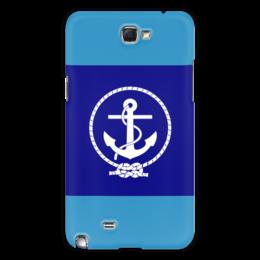 "Чехол для Samsung Galaxy Note 2 ""Морской разведчик"" - море, якорь, канат"