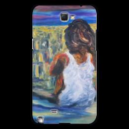 """Чехол для Samsung Galaxy Note 2 """"Наедине с миром"""" - одиночество, разлука, гора"""