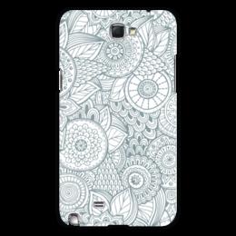 """Чехол для Samsung Galaxy Note 2 """"Джунгли"""" - цветы, растения, джунгли"""