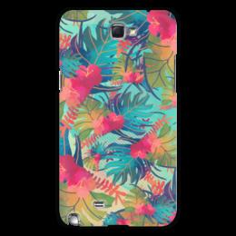 """Чехол для Samsung Galaxy Note 2 """"Джунгли"""" - цветы, лес, краски, акварель, джунгли"""