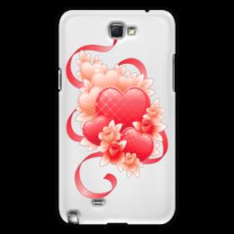 """Чехол для Samsung Galaxy Note 2 """"Любимой на 14 февраля"""" - цветы, 14фев"""