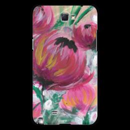 """Чехол для Samsung Galaxy Note 2 """"Полевые цветы"""" - лето, цветы, весна, розовый, подарок"""