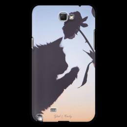 """Чехол для Samsung Galaxy Note 2 """"Glad & Curly """" - кошка, стиль, популярные, в подарок, оригинально, девушке, котик, нежность, креативно, авторские чехлы"""