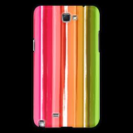"""Чехол для Samsung Galaxy Note 2 """"Радуга"""" - узор, радуга, рисунок, полосатый, красочный"""