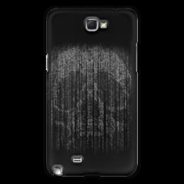 "Чехол для Samsung Galaxy Note 2 ""Голограмма череп"" - череп, кости, смерть, голограмма"