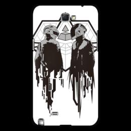 "Чехол для Samsung Galaxy Note 2 ""Daft punk"" - музыка, арт, daft punk"