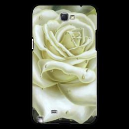 """Чехол для Samsung Galaxy Note 2 """"Белая роза"""" - арт, цветы, роза, белая роза"""