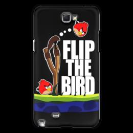 "Чехол для Samsung Galaxy Note 2 ""Flip The Bird"" - злые птицы, flip the bird"