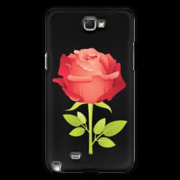 """Чехол для Samsung Galaxy Note 2 """"розочка"""" - цветы, роза, подарок, прикольная"""