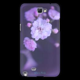 """Чехол для Samsung Galaxy Note 2 """"Glad & Curly """" - цветы, девушке, розовый, розы"""