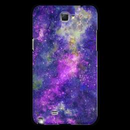 """Чехол для Samsung Galaxy Note 2 """"Космос (фиолетовый)"""" - space, purple space, violet galaxy, галактики, звезды"""