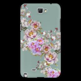 "Чехол для Samsung Galaxy Note 2 ""Цветочная фантазия."" - цветы, flowers, живопись, букет"