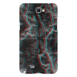 """Чехол для Samsung Galaxy Note 2 """"Молния"""" - узор, космос, краски, абстракция, молния"""