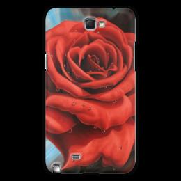 """Чехол для Samsung Galaxy Note 2 """"Красная роза"""" - арт, цветы, роза, красная роза"""