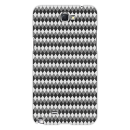"Чехол для Samsung Galaxy Note 2 ""Три оттенка серого"" - узор, серый, геометрия, ромб, фон"