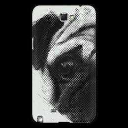 "Чехол для Samsung Galaxy Note 2 ""Pug Fan Print"" - pug, мопс, чехол с мопсом, pug print, pug fan"