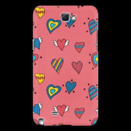 "Чехол для Samsung Galaxy Note 2 ""Heart doodles"" - love, 14 февраля, сердечки, hearts"