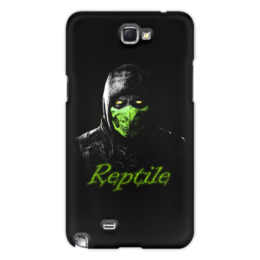 "Чехол для Samsung Galaxy Note 2 ""Reptile"" - ninja, reptile, mortal, kombat"