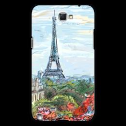 "Чехол для Samsung Galaxy Note 2 ""Эйфелева башня"" - графика, франция, париж, эйфелева башня"
