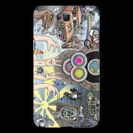 """Чехол для Samsung Galaxy Note 2 """"Rainbows Sharks"""" - арт, прикольные, оригинально, креативно"""