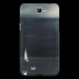 "Чехол для Samsung Galaxy Note 2 ""В море "" - море, птицы, birds, sea, ship"