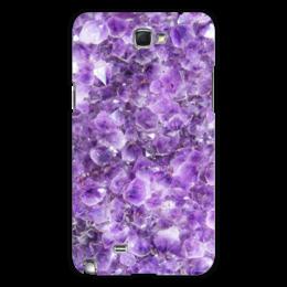 "Чехол для Samsung Galaxy Note 2 ""Магия аметиста"" - фиолетовый, камень, магия, аметист"