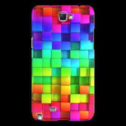 """Чехол для Samsung Galaxy Note 2 """"яркие краски"""" - подарок, красивый, прикольный"""