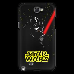 "Чехол для Samsung Galaxy Note 2 ""Darth Vader smokes!!!"" - star wars, darth vader, дарт вейдер, звёздные войны, лазерный меч"