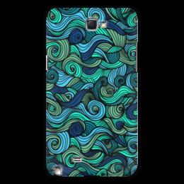 """Чехол для Samsung Galaxy Note 2 """"Волнистый"""" - узор, стиль, волна, орнамент, абстракция"""