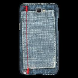 """Чехол для Samsung Galaxy Note 2 """"Джинса"""" - стиль, стильный, джинсы, джинса, джинсовый"""