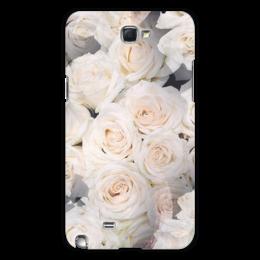 """Чехол для Samsung Galaxy Note 2 """"Цветочный чехол"""" - цветы"""